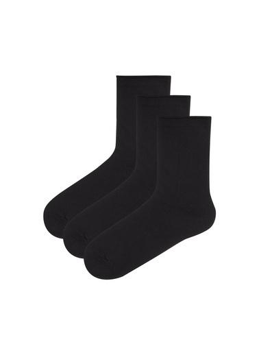 Penti Kız Çocuk Siyah Basic 3'lü Çorap PHMELVVP19SK Siyah